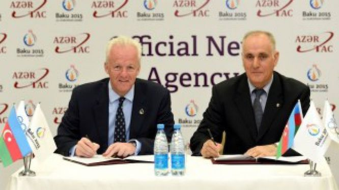 The signature of the agreement between Baku OG and Azertec