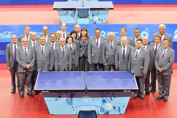 Three referees, 20 umpires and two racket testers from 20 associations were on duty