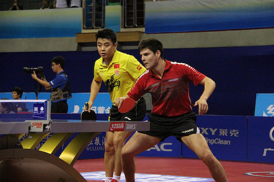 Dima Ovtcharov (Europe, GER) and Wang Hao (Asia, CHN) this time playing together