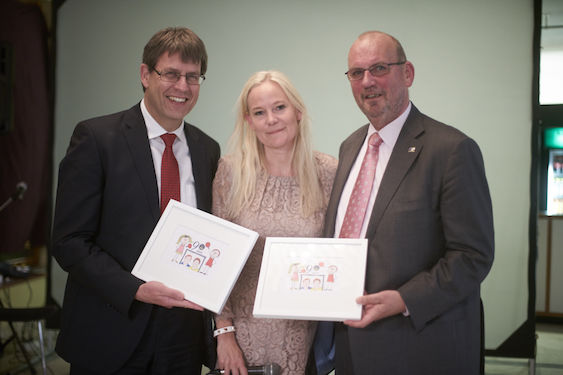 ITTF President Thomas WEIKERT, Swedish TTA President and ITTF vice President Petra SÖRLING and ETTU President Ronald KRAMER