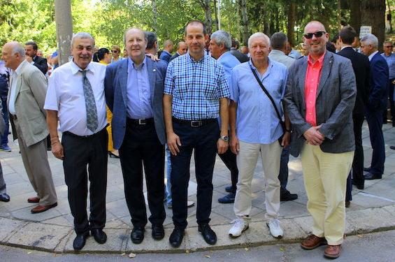 Asarel Bulgaria Open Chairman Ivan ALEKSANDROV, ETTU Secretary General Richard SCROUTON, TTF Bulgarian President Stefan KITOV, Asarel Bulgaria Open Tournament Director Tsvetozar HRISTOV and ETTU President Ronald KRAMER