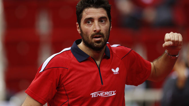 Panagiotis GIONIS replaced STEGER at ITTF Europe Top 16 Cup
