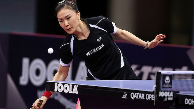SHAN Xiaona beat the top seed in Doha