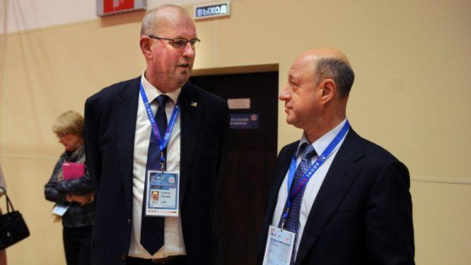 ETTU President Ronald KRAMER and TTFR President Alexander BABAKOV