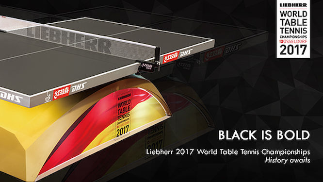 DHS Unveils Black Table Tennis Table for 2017 World Championships
