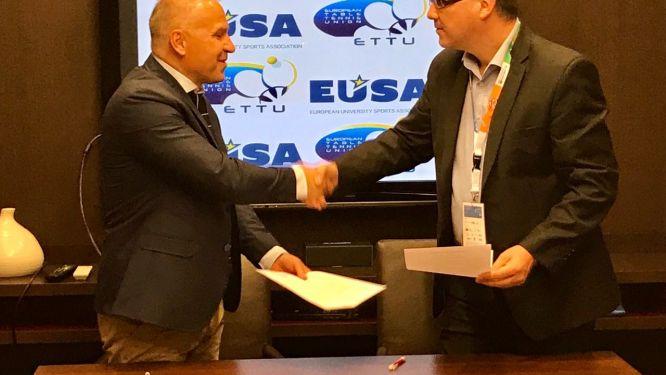 Memorandum of Understanding between ETTU and EUSA