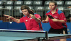 Two Russia's cadet mixed doubles in the semis