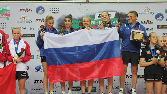 Russia clinched three titles in big style