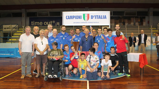 Apuania Carrara is the Italian Men's Team Champion for the fourth time