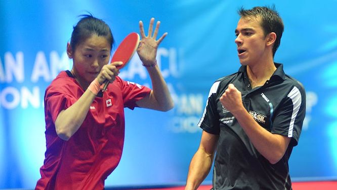 Champions Zhang Mo & Hugo Calderano Wins Pan American Cup to qualify for 2018 ITTF World Cups