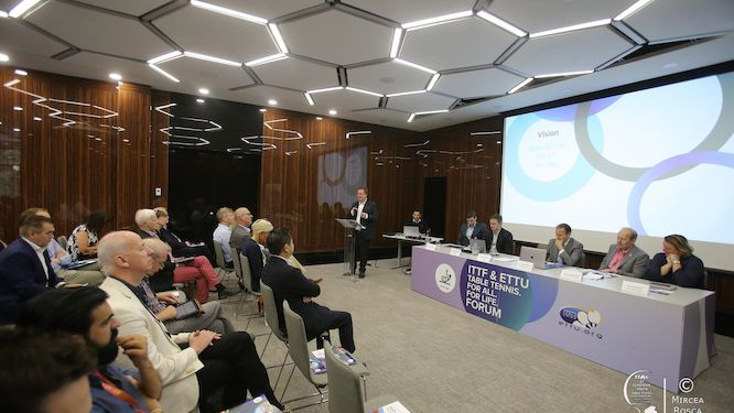 Table Tennis. For All. For Life. Forum gave clear overview of the new strategic plan