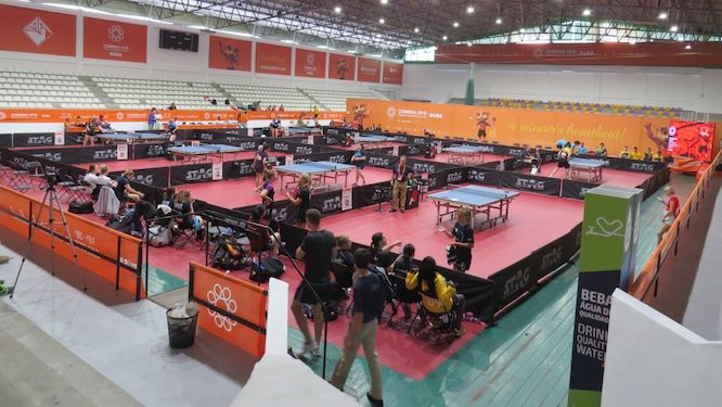 Table Tennis competitions started at the European Universities Games