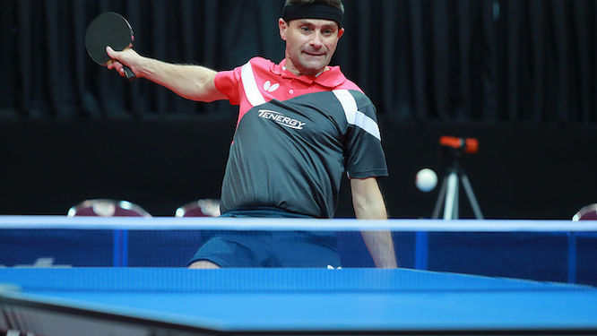 KREANGA at the LIEBHERR ITTF European championships again 30 years after his debut
