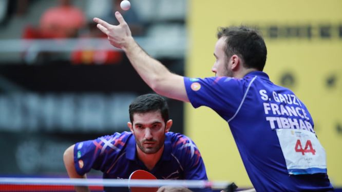 Simon GAUZY and Emmanuel LEBESSON in the quarters