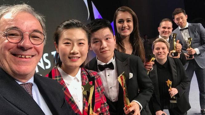 The Stars come out in Korea at the 2018 ITTF Star Awards!