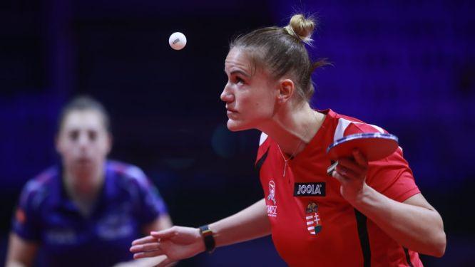 Szandra PERGEL enjoys her game in Budapest