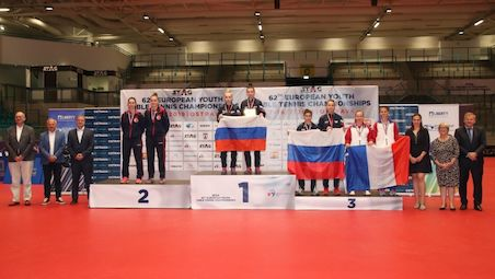 KAZANTSEVA and TAILAKOVA reached the gold in Junior Doubles