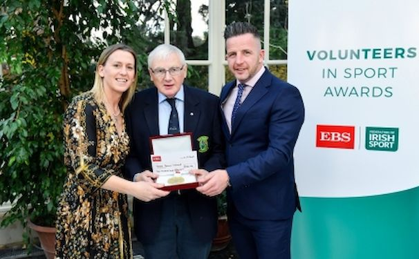 Mary O'Connor (CEO Federation of Irish Sport), Ken Strong and Richie Gernon(EBS)