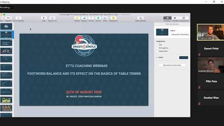 EKHOLM and TOTH shared their experinece on ETTU coaching webinar