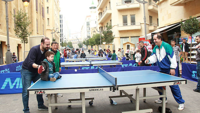 In hour of need, ITTF supports Lebanon