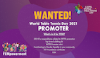 Become a World Table Tennis Day promoter