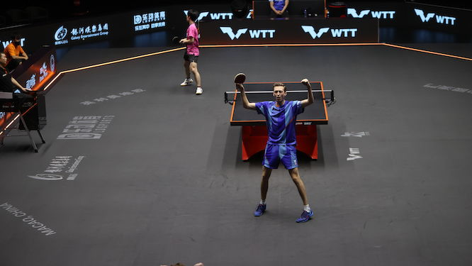 Liam PITCHFORD advances to Battle Two at the WTT Macao