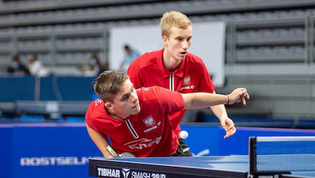 Gold for Samuel KULCZYCKI and Maciej KUBIK at the Under 19 Boys Doubles Event