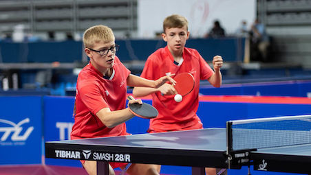 Felix LEBRUN and Flavien COTON won the title in Boys Doubles