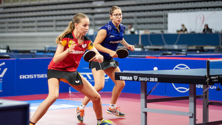 Annett KAUFMANN and Bianca MEI ROSU clinched gold in Girls Doubles