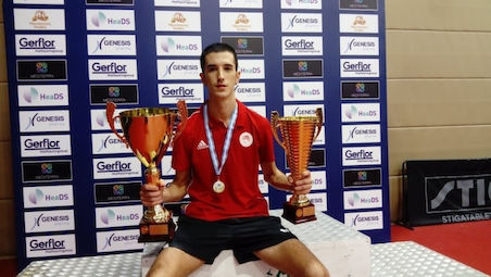 STAMATOUROS is the new Greek champion in men's singles, 4th title for TOLIOU in the Women's