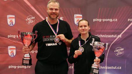 Jiří VRÁBLÍK and Hana MATELOVÁ clinched the titles in Czech Republic