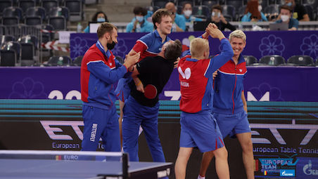 The knock out stage commenced in Cluj – matches for the medals